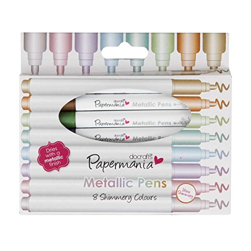 Papermania Metallic Pens - Rotulador permanente punta