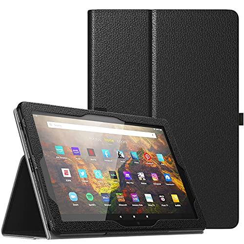 TiMOVO Custodia Compatibile con all-New Fire HD 10 & Fire HD 10 Plus Tablet (10.1 , 11th Generation, 2021 Release), Cover Protettiva Pieghevole con Auto Sveglia Sonno, Nero