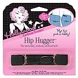 Hollywood Fashion Secrets Hip Hugger, One Size, Figure Slimming No Buckle No Bulk Elastic Band Belt Alternative, Black