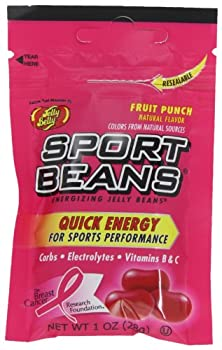 Jelly Belly Sport Beans Fruit Punch Energizing Jelly Beans 1-Ounce Bags  Pack of 24