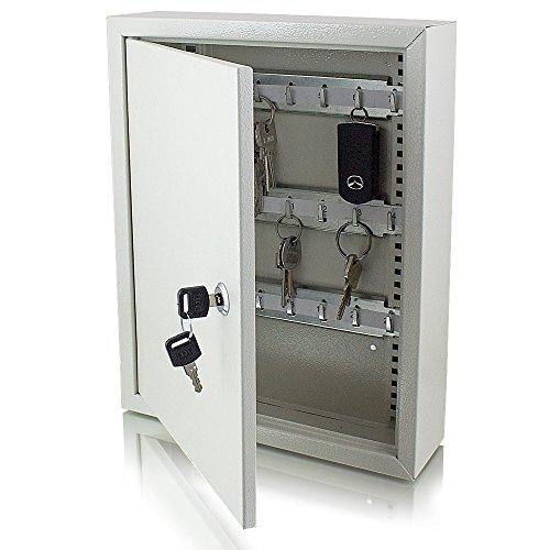 Safe Tresor Schlüsselsafe Schlüsselkasten Schlüsseltresor Schlüsselschrank mit 42 Schlüsselhaken