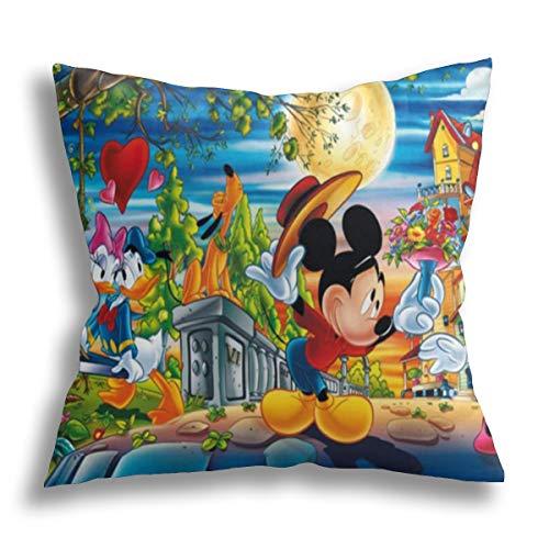 Funda de almohada decorativa para el hogar de Mickey Mouse Paradise para hombres/mujeres, sofá o sillón, funda de almohada de 18 x 18 pulgadas