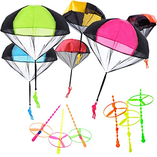 Yolistar Juguetes de Paracaídas para Niños,6 Piezas Mano Q