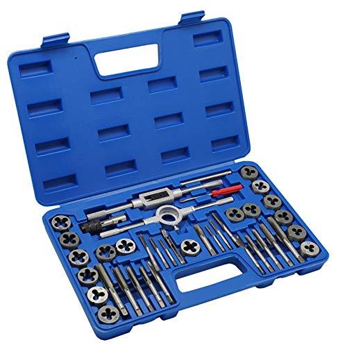 Metric Tap & Die Set - 40pcs Hardened Screw Thread Taper Drill Kit