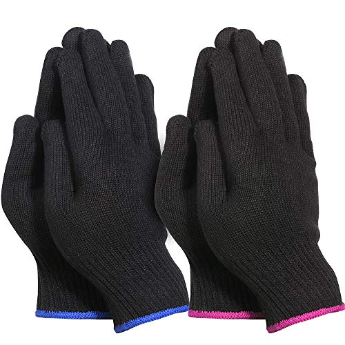 Teenitor 4 Pcs Heat Resistant Gloves for Hair Curling Iron, Professional Heat Proof Gloves for Hair Styling Hot Flat Iron Wands Straighteners, One Size Fits All