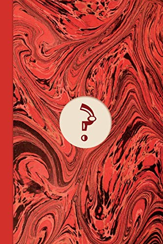Monogram Symbol Question Mark Mystery Marble Notebook (Regency Red Edition): Blank Lined Journal for Writing: Notes & Passwords, plus Board Game, Puzzle, Crossword, Wordsearch & Sudoku Workings