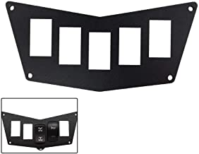 BUNKER INDUST Black Aluminum Dash Panel for Polaris RZR XP 900 800 S570 with 5 Switch Slots,Rocker Switch Panel