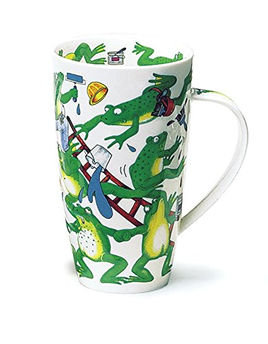 Preisvergleich Produktbild Gorgeous 'Troublemakers' Frogs by Dunoon Fine Bone China Large Mug Henley Style by Dunoon