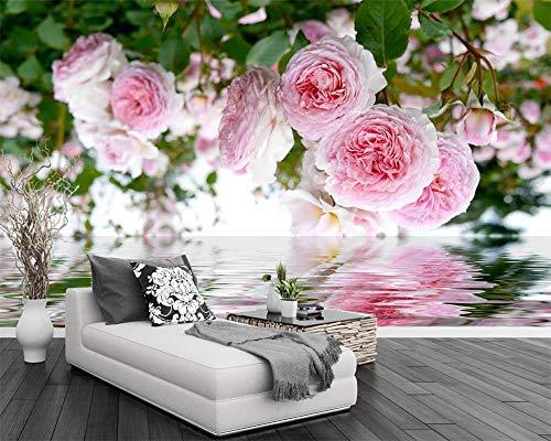 3D-Tapete Rosengarten rosa Rosenwasser Pastoral Hintergrund Wand TV Hintergrund Wandmalerei Tapete für Wände 3D Tapety*400cmx280cm
