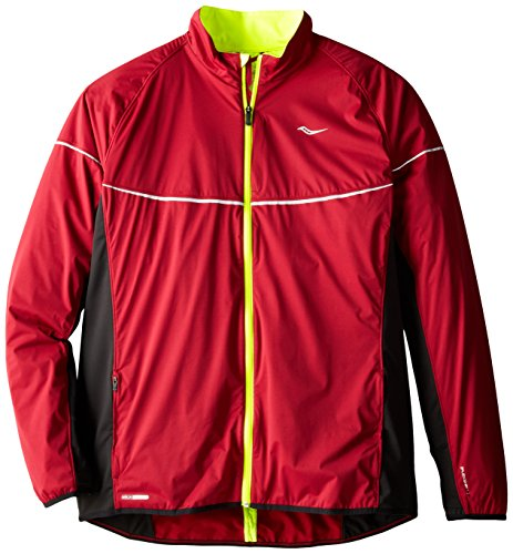 Saucony Nomad Jacket, Crimson/Black, Small
