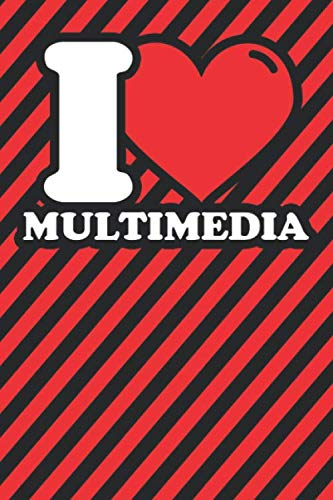 Notebook lined: Multimedia Gifts - Funny I love Multimedia Humor