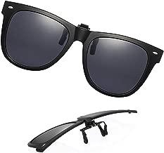 Clip-on Sunglasses Polarized Unisex Anti-Glare Driving Glasses With Flip Up for Prescription Glasses