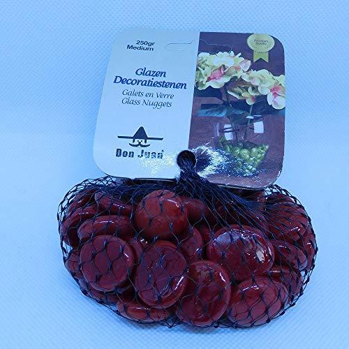 Les Colis Noirs LCN - Filet de Galet Opale Rouge 250g - Décoration Bille Plate Jeu - 693