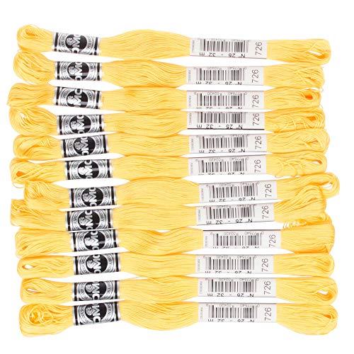 DMC アブローダー 刺繍糸 12束入 25番 #726 イエロー系 DMC10725B