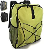 Enthusiast Gear Soft Lunch Backpack Cooler   Insulated Leakproof Lightweight Back Pack Bag for Hiking, Picnics, Beach, Beer, or Day Trips - 20 Cans - Green
