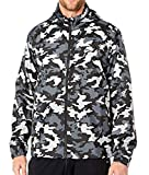 Nike Men's CAMO Hooded Windbreaker Jacket, Black/Grey, Medium