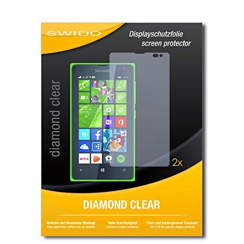 2 x SWIDO® Bildschirmschutzfolie Microsoft Lumia 435 Schutzfolie Folie