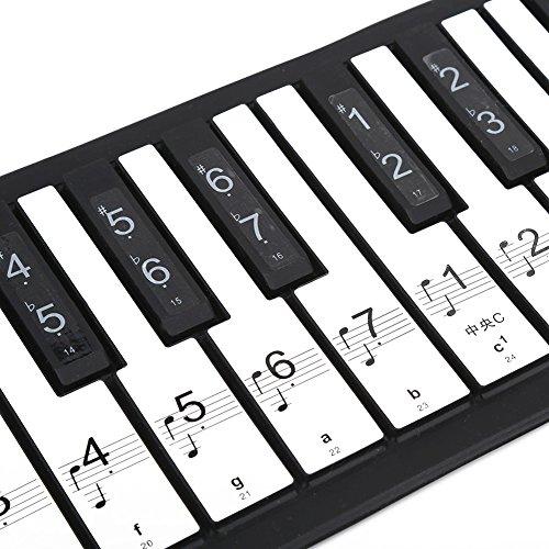 Drfeify Pegatinas de Teclado de Piano Electrónico, 88 Tecla