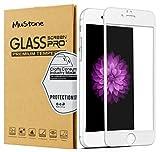 MuStone [2 Pack] Protectores de pantalla para iPhone 6 Plus 6s Plus, Protector de pantalla de cristal templado 3D Touch completo para iPhone 6 Plus 6s Plus Protectores de pantalla (5.5 ') (Blanco)