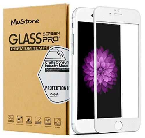 "MuStone [2 Pack] Protectores de pantalla para iPhone 6 Plus 6s Plus, Protector de pantalla de cristal templado 3D Touch completo para iPhone 6 Plus 6s Plus Protectores de pantalla (5.5 "") (Blanco)"