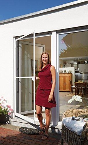 Schellenberg 70060 Insektenschutz-Tür PREMIUM, Fliegengitter mit Rahmen – 100 x 215 cm