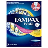 Tampax Pearl Tampons with Plastic Applicator, Regular Absorbency, Scented, 18 Count (Pack of 1)