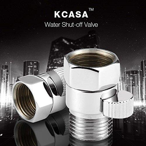Bazaar KCASA™ laiton jonction vanne de régulation du débit d'eau stright-through angle d'arrêt accessoire de bain de soupape