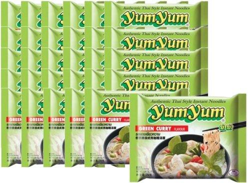 30 x Instant Nudeln mit GREEN CURRY Geschmack 30x70g