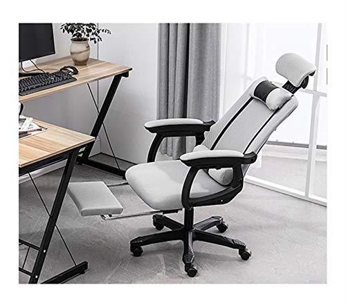 Silla de oficina para el hogar, silla de escritorio giratoria para dormitorio, silla de oficina en casa de altura ajustable, silla de escritorio para computadora para niños / adultos ( Color : Grey )