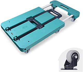 Rubik Push Cart Dolly with Handle, Extendable Foldable Six Wheel Moving Platform Hand Truck, Easy Storage and 360 Degree S...