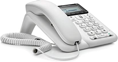 $33 » Motorola CT610 Corded Telephone with Answering Machine and Advanced Call Blocking, White, (Renewed)