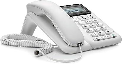 $20 » Motorola CT610 Corded Telephone with Answering Machine and Advanced Call Blocking, White, (Renewed)