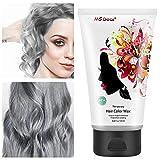 MS.DEAR Silber Grau Haarwachs 120g, Temporäre Haarfärbe Wachs, Professionelle Hair Wax Haar...