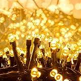 Quntis 1000 LED 25m Lichterkette Außen Warmweiß, Cluster Lichterkette Strombetrieben, 8 Modi Weihnachtsbeleuchtung Innen, IP44 Weihnachtsdeko für Weihnachtsbaum Garten Büsche Balkon Terrasse Zimmer