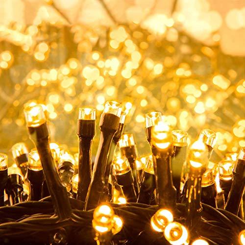 Quntis 1000 Leds 25M Lichterkette Warmweiß Außen, Cluster Lichterkette Innen Strombetrieben, 8 Modi Weihnachtsbeleuchtung, IP44 Dekolicht für Baum Garten Balkon Terrasse Zimmer Fenster Party Hochzeit