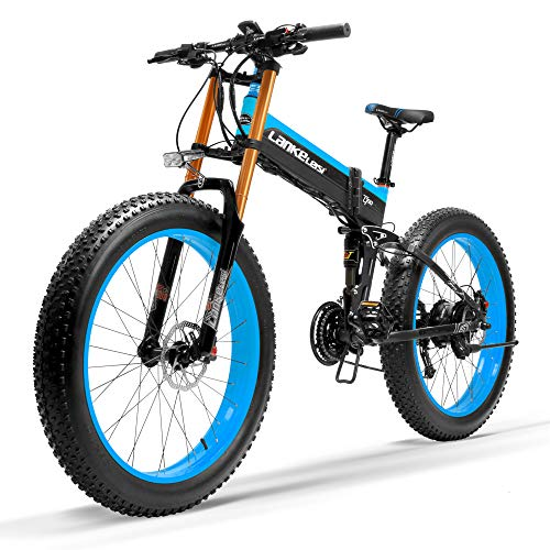 LANKELEISI Nueva T750Plus Bicicleta de eléctrica, Bicicleta