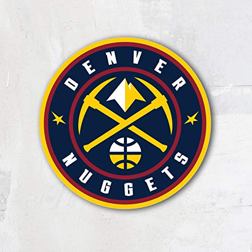 Denver City Nugget Basketball Sport Team Logo Vinyl Sticker Die-Cut Decal Label Emblem Symbol - 12'' x 12''