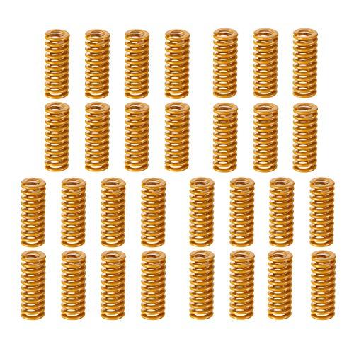 Muelle de compresión,RoadLoo 30 piezas Muelles para Impresora 3D Muelle de Compresión 3D Springs Resortes de Compresión Impresora 3D Resistencia Muelles para la Nivelación Inferior Placa Base Conexión