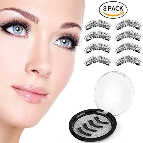 SILKSENCE Longer Dual Magnetic False Eyelashes-Premium Quality for Natural Look