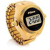 Pikoo: Unisex Digital Ring Watch w/Made in Japan Movement, One Size Fits All- Classic Black