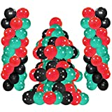 Elecrainbow 100 Count 12 Inch 320 Grams Thickened Red, Black & Dark Green Balloons for Party Decorations, St.Patrick's Day, Baby Shower, Jungle Party, Animal Theme Party, Anniversary