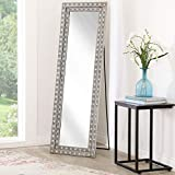 Abbyson Living Full Length Leaning Floor Mirror with Stand and Rhinestone Accents