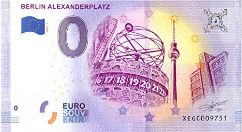 # 0 Euro Schein Deutschland 2019 · Berlin · Alexanderplatz · Souvenir o Null € Banknote