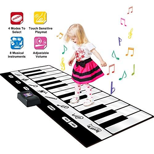 SGILE Tapis Piano Géant, Instrument de...