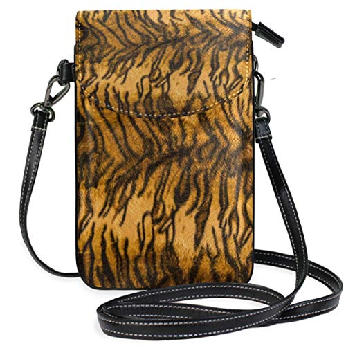 ClownFish Tiger Animal Print Mini bolsos de hombro cruzados Monedero para celular Billetera Bolsa Bolso Cuero...