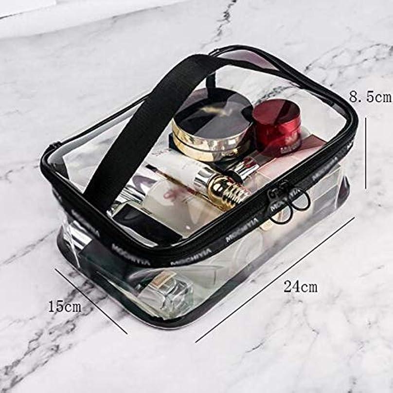 カレンダー虫シリンダーQTKGG プラスチック材料防塵縁取り化粧収納袋ポータブル化粧バッグレザー及び透明性プラスチックファスナーソフトハンドルをドロップ 化粧品のバッグ (Size : A)