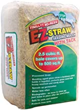 EZ-Straw Seeding Mulch with Tack - Biodegradable Organic Processed Straw – 2.5 CU FT Bale (covers up to 500 sq. ft.)