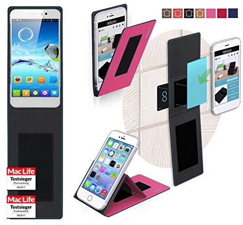 reboon Hülle für Jiayu G4 Turbo Tasche Cover Case Bumper   Pink   Testsieger