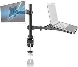 Bracwiser Laptop Notebook Stand Monitor Arm Desk C-clamp Mount Fully Adjustable Tilt Swivel Rotation 13-27 inches