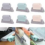 TOCYORIC 6 Piezas Cepillo de limpieza de ranura creativa opcional cepillo de limpieza de ventana mágica limpia rápidamente todas las esquinas y huecos